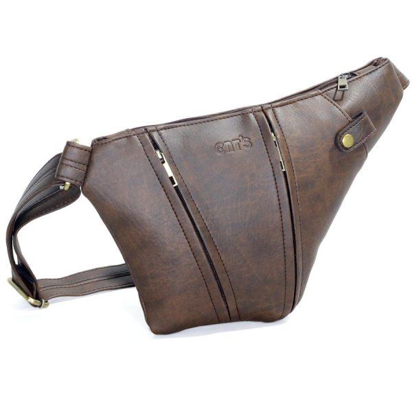 Túi đeo chéo Unisex CNT MQ25 nâu năng động