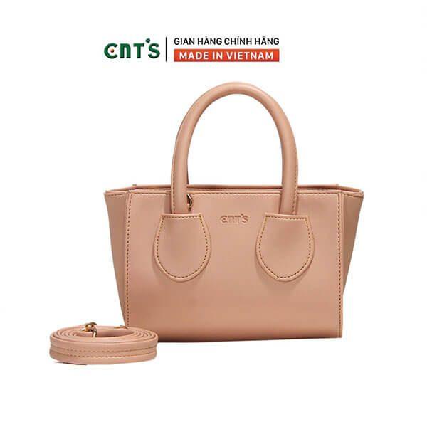 Túi đeo chéo nữ thời trang CNT TĐX63 Hồng phấn